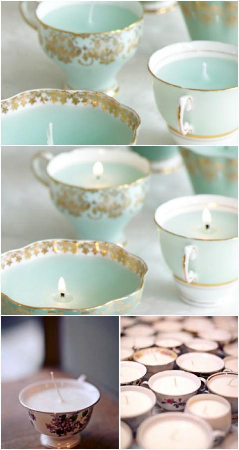 Teacup canldes