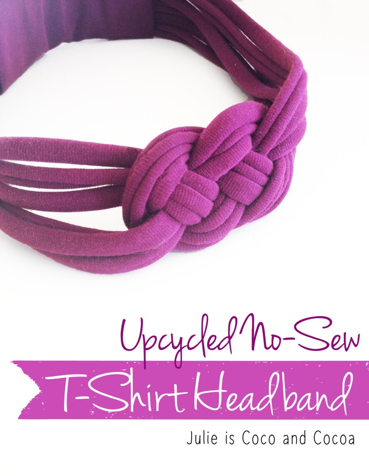 Tshirt headband upcycle no sew