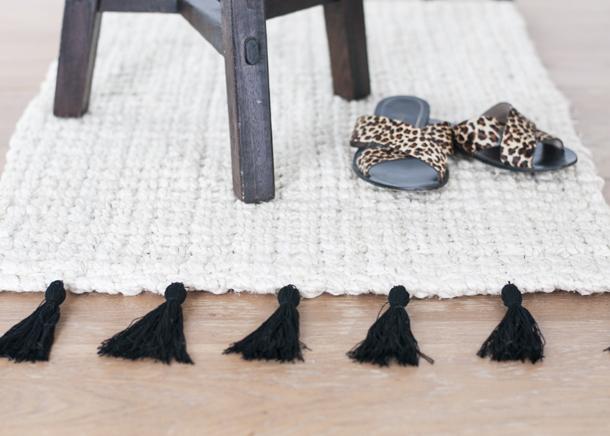 13 diy tassel rug