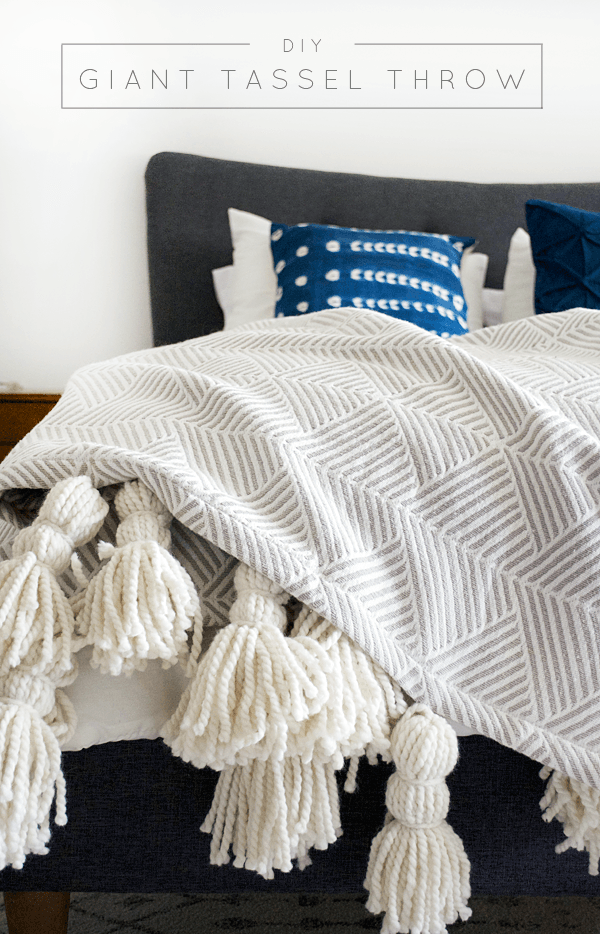 17 diy giant tassel blanket