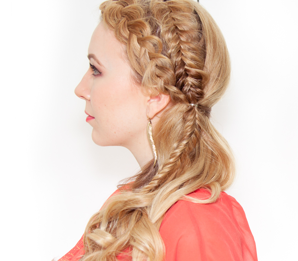17 side swept double braid