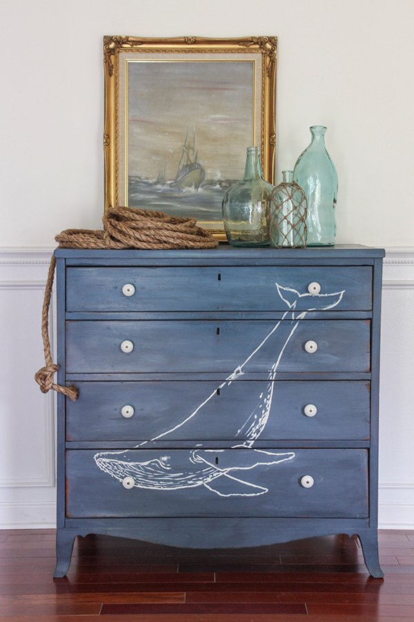 18 nautical dresser makeover chalkboard paint