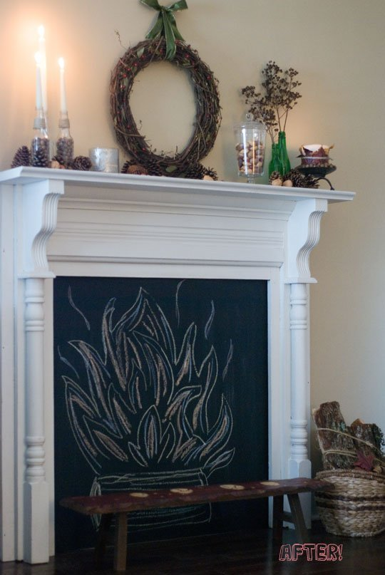 21 faux fireplace