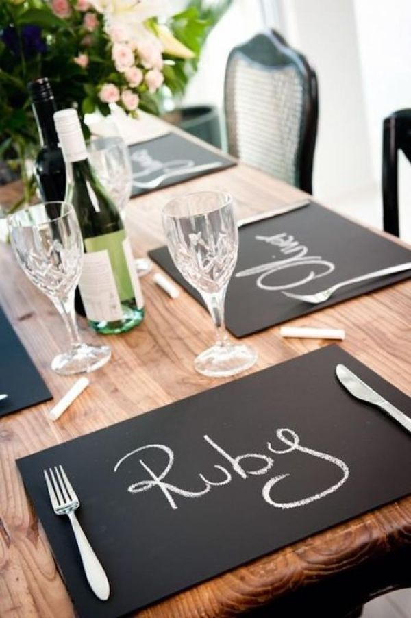 22 chalkboard placemats