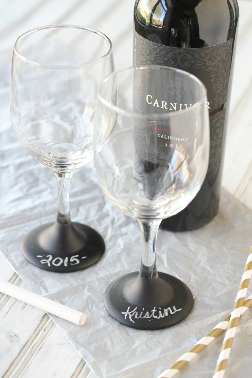 3 chalkboard wine glasses names