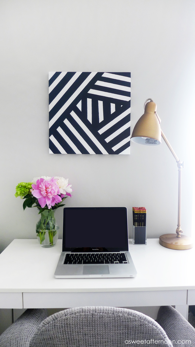 34 Striped Black White Art Diy Part 93