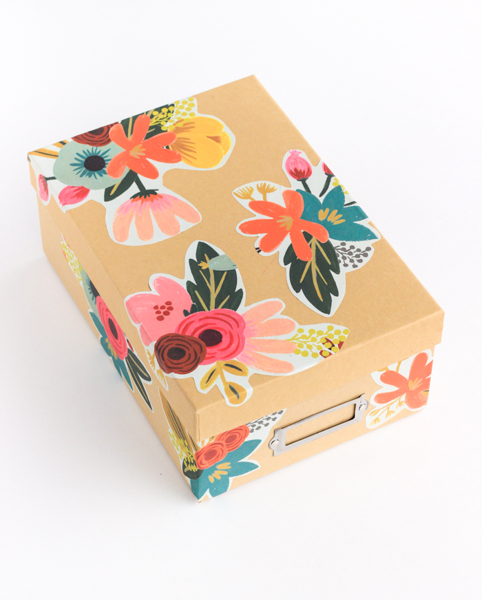 40 floral decoupage box
