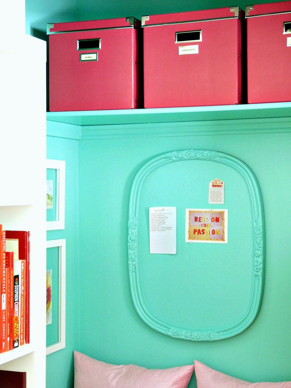 44 turquoise corkboard