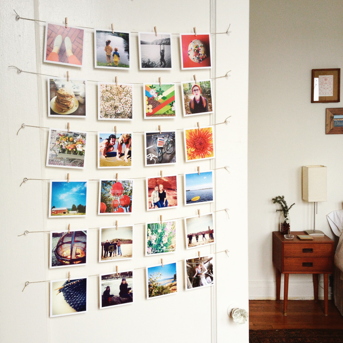 5 photo display wall