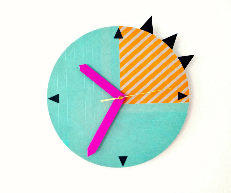 6 washi clock diy dorm decor