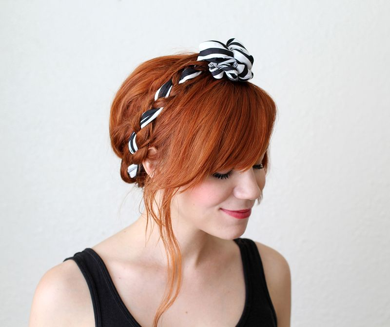 7 braid with fabric tutorial