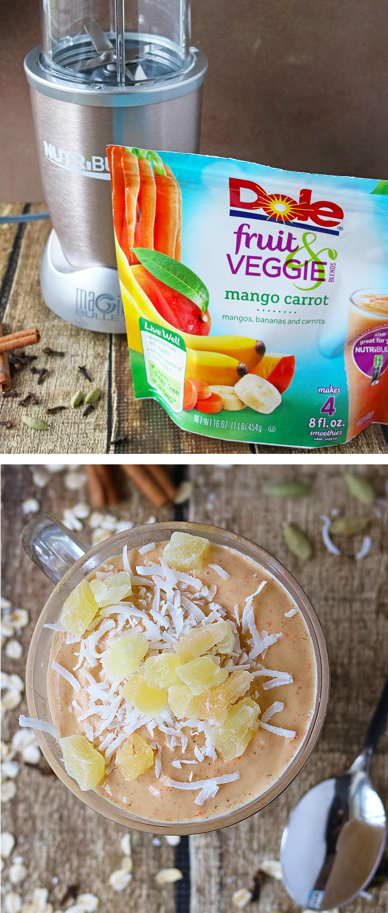 8 carrot mango smoothie