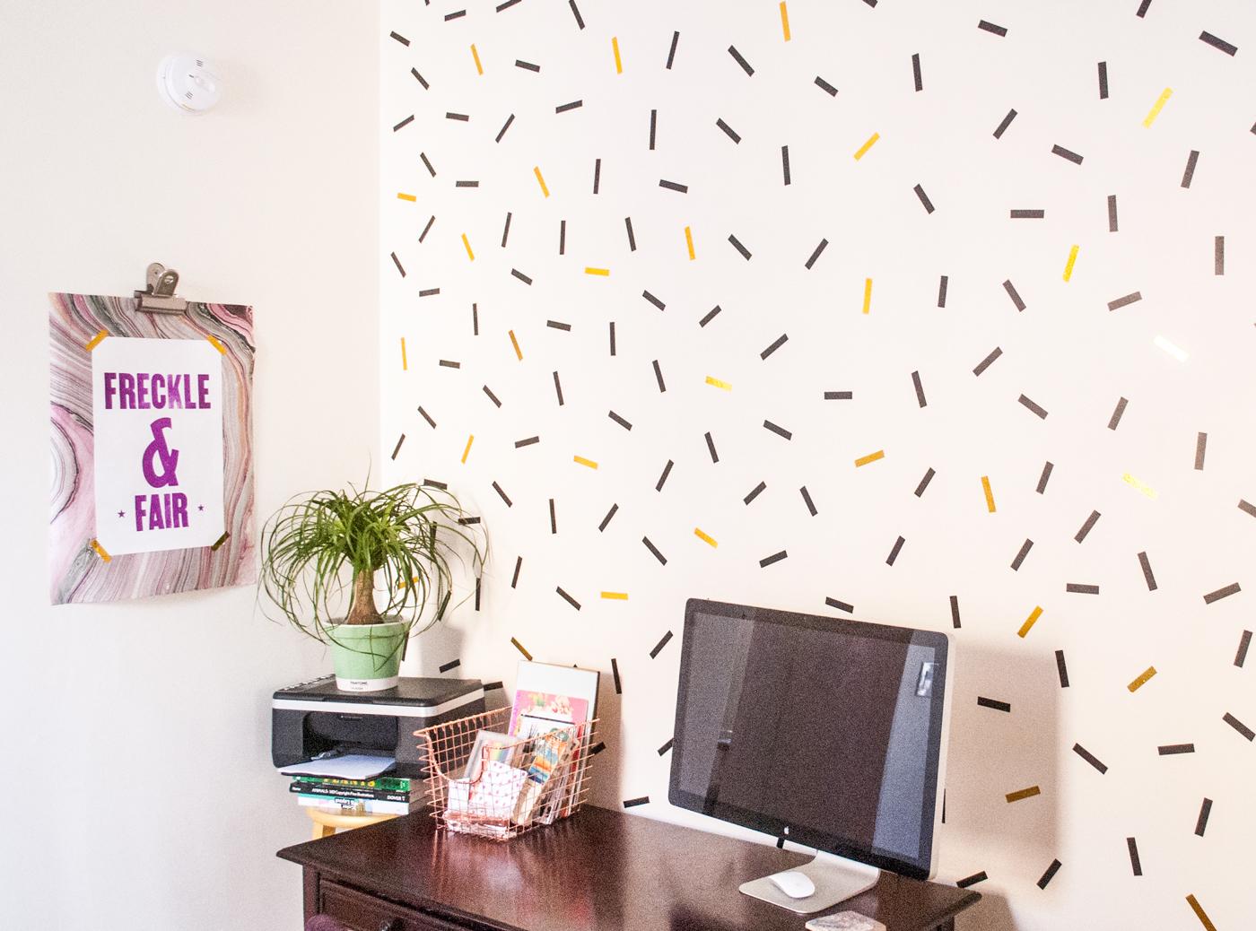 8 confetti wall diy