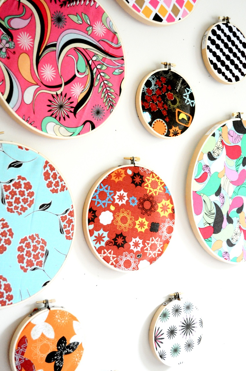 9 embroidery hoop fabric decor