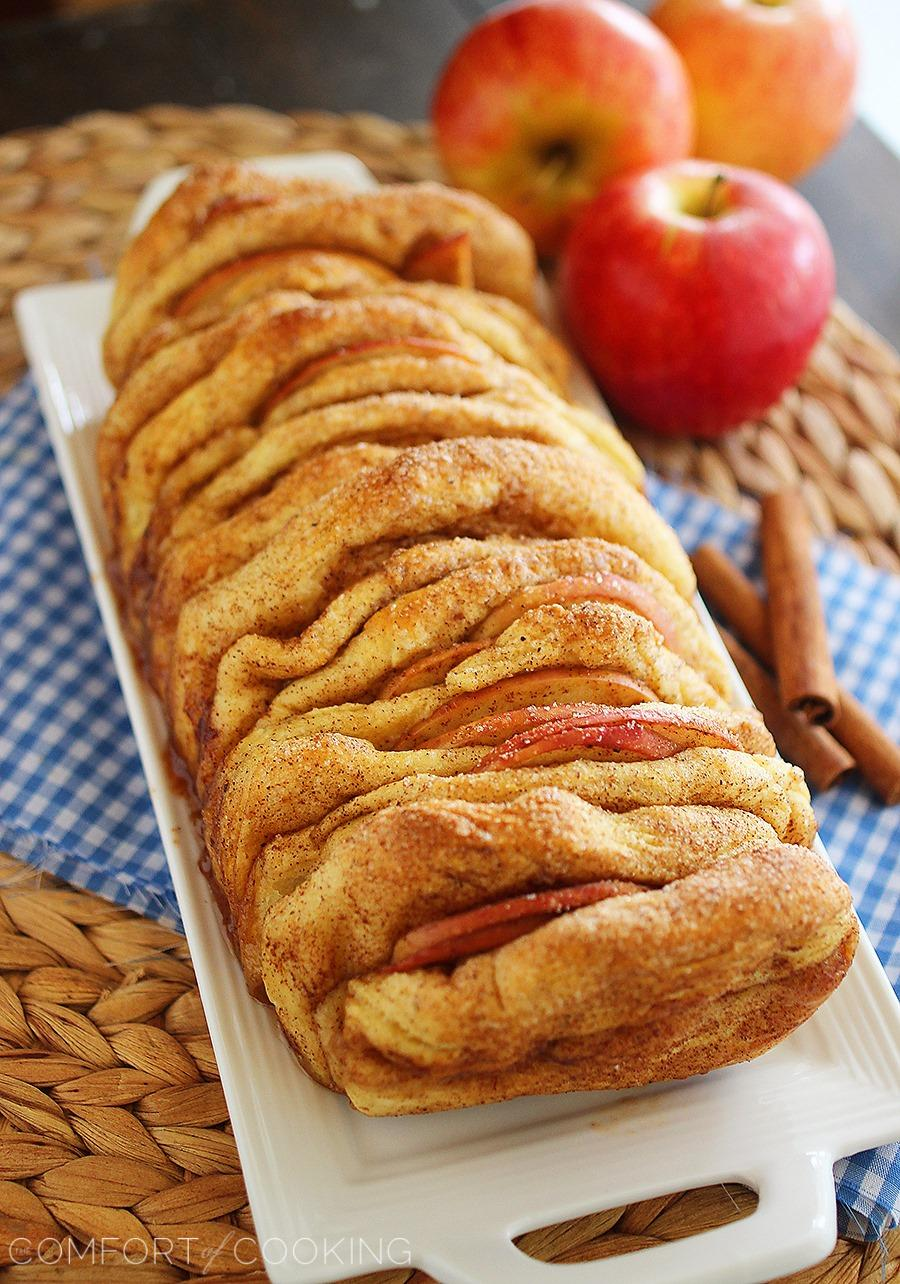 Apple pie pullapart bread