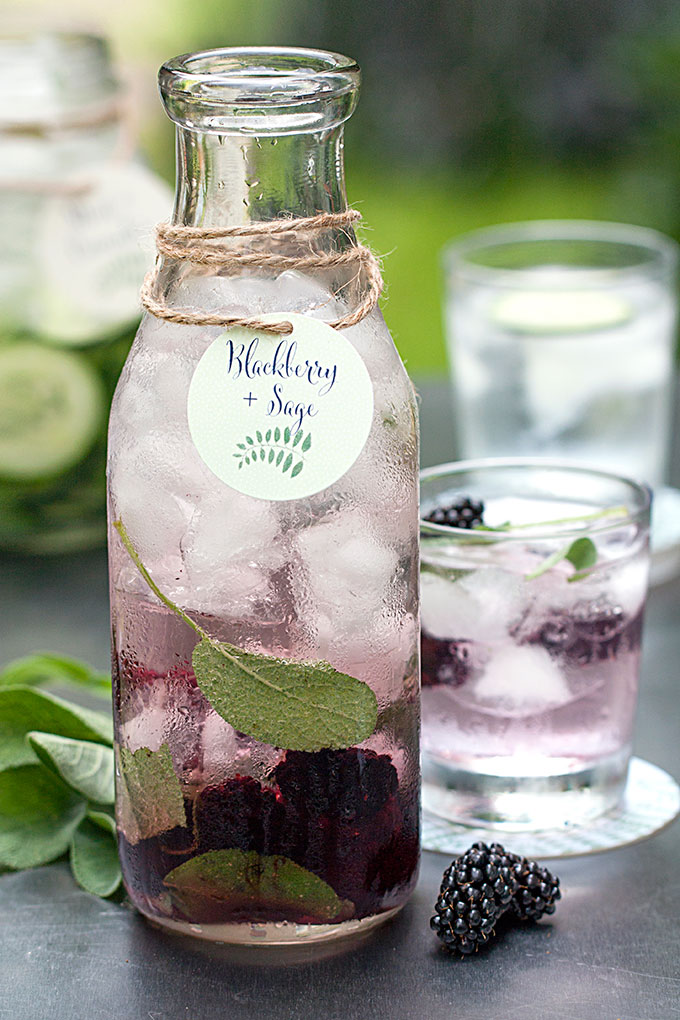 Blackberry & sage water recipe