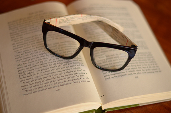 Book page glasses