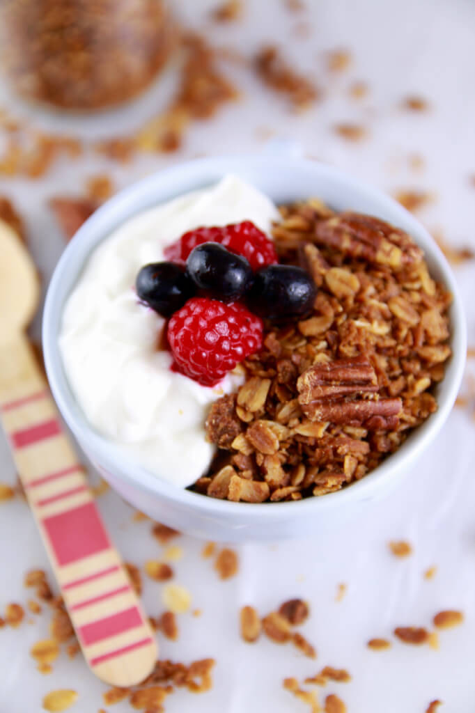 Breakfast granola in a mug recipe