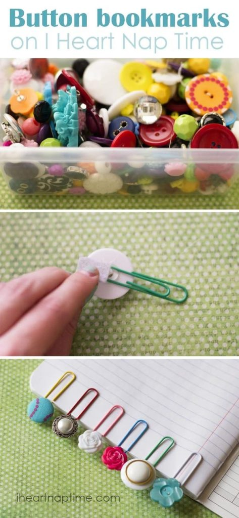 Button page clips
