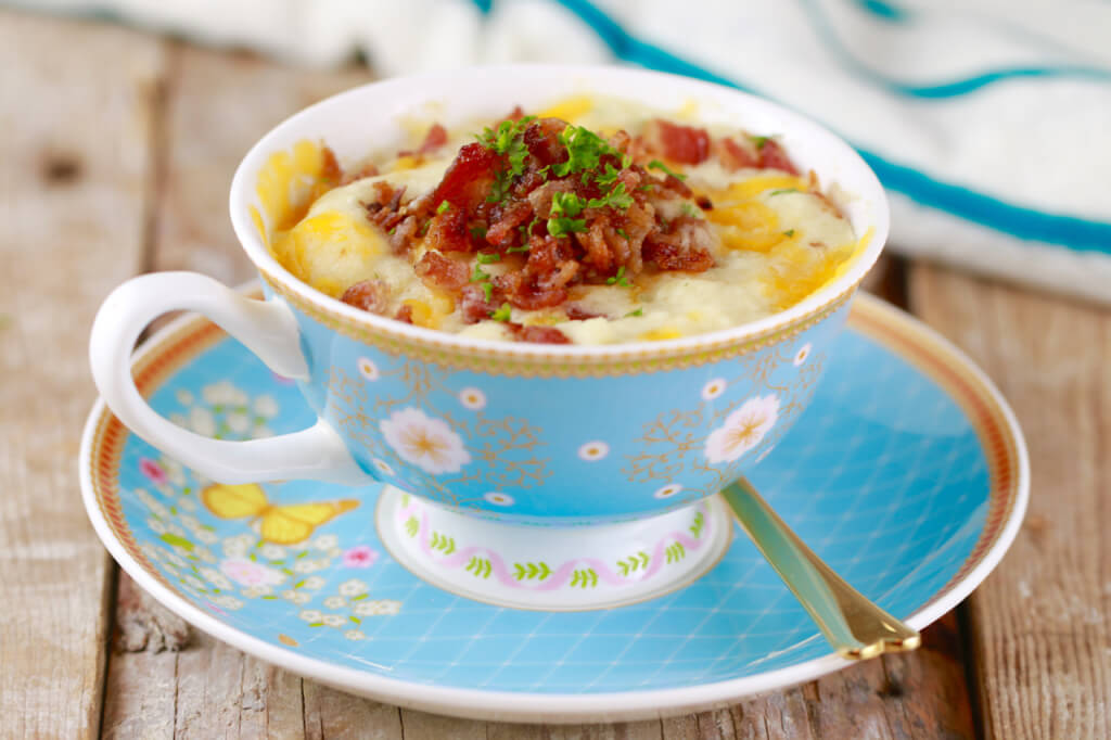 Cheddar and bacon biscuit mug recipe
