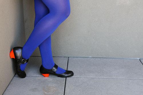 Color block heels diy