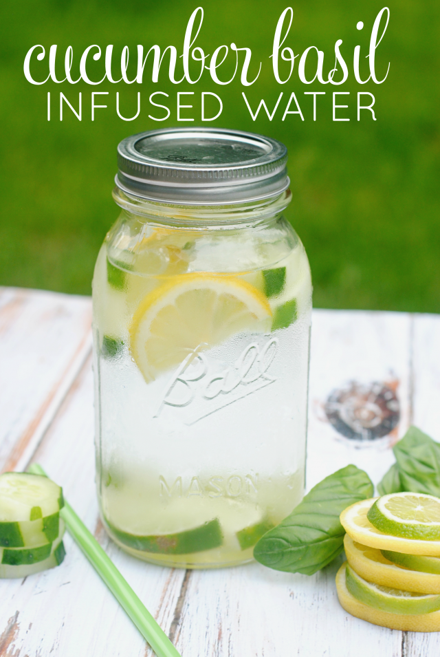 Cucumer basil infused water recipe 640x955