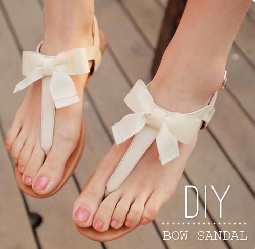 Diy bow sandal 2
