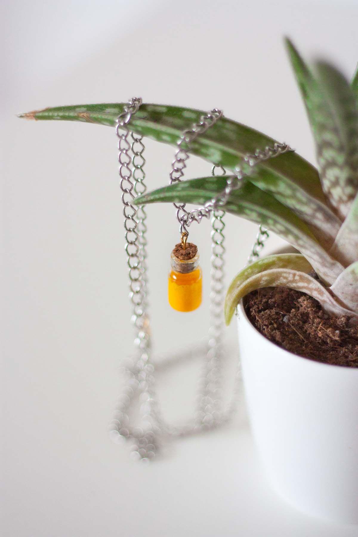 Diy mini bottle pendant necklace display