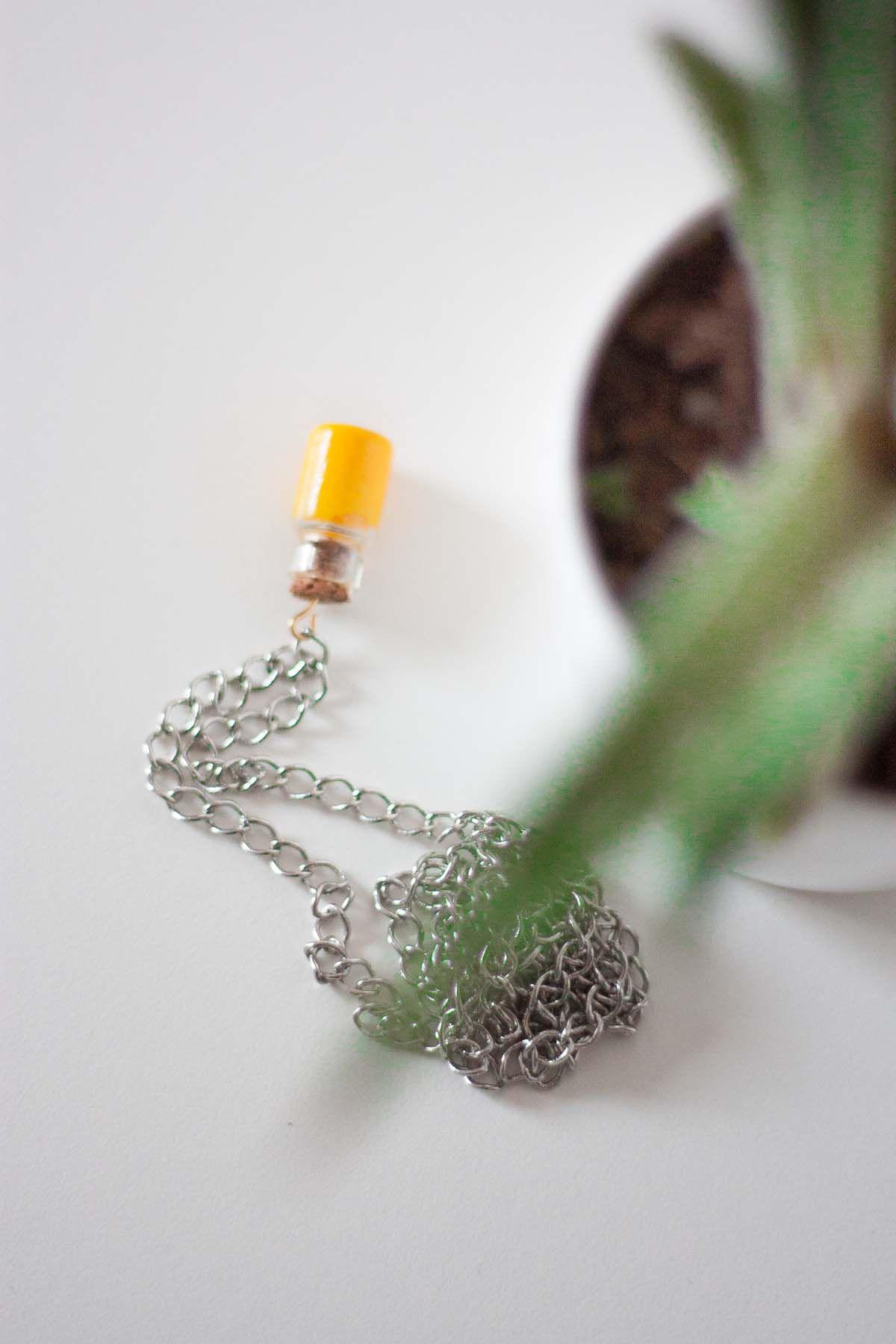 Diy mini bottle pendant necklace gift