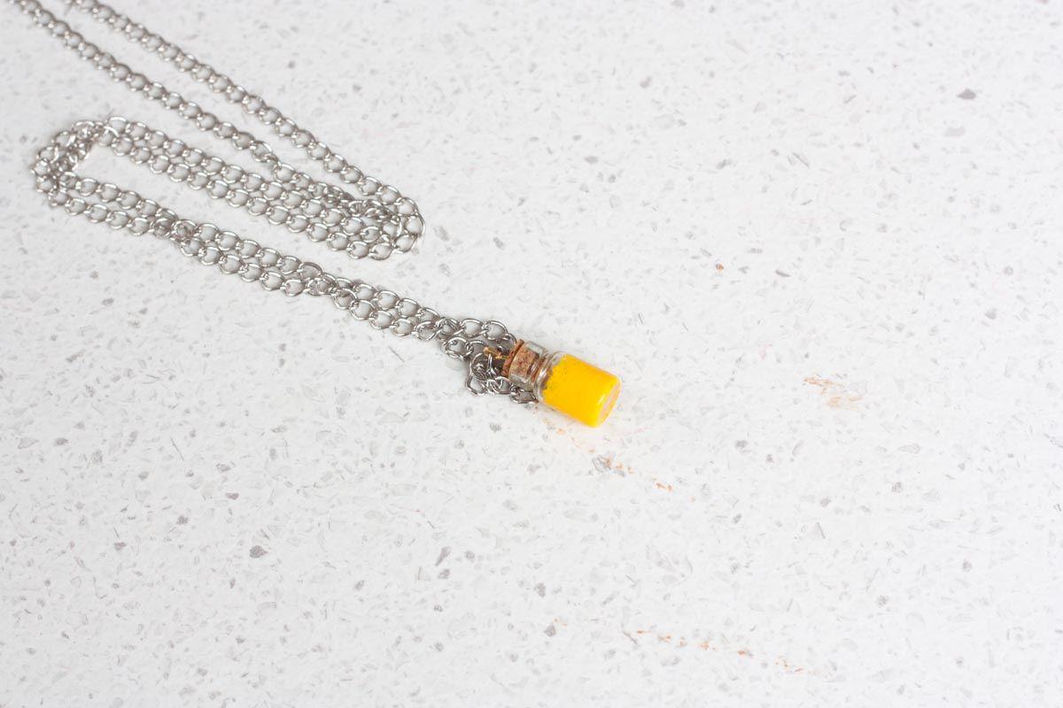 Diy mini bottle pendant necklace jewelry