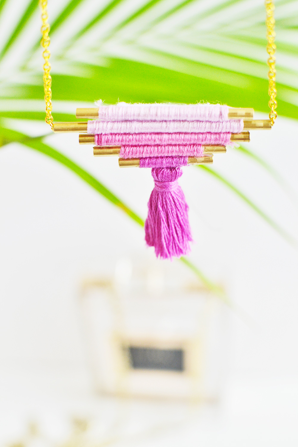 Diy ombre brass necklace 6