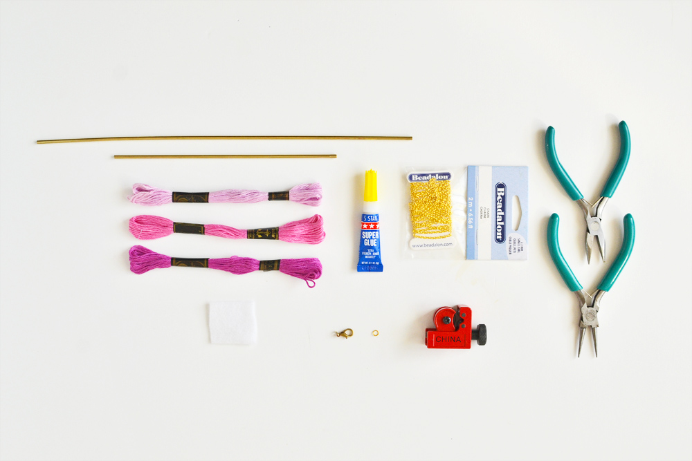 Diy ombre brass necklace materials