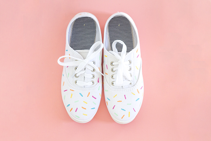 Diy sprinkle shoes