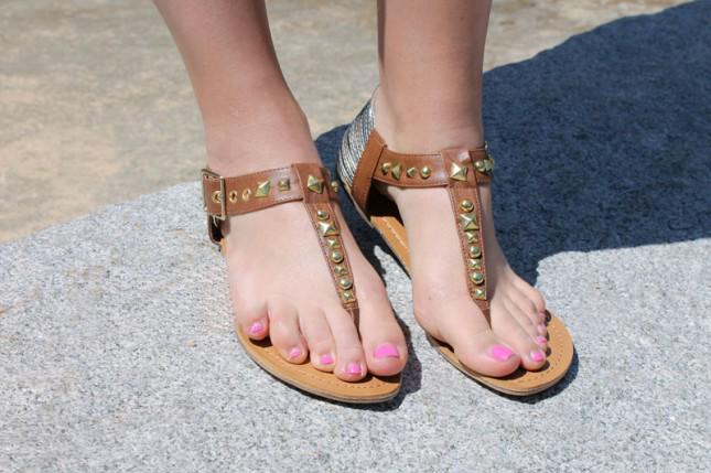 Diy studded sandals