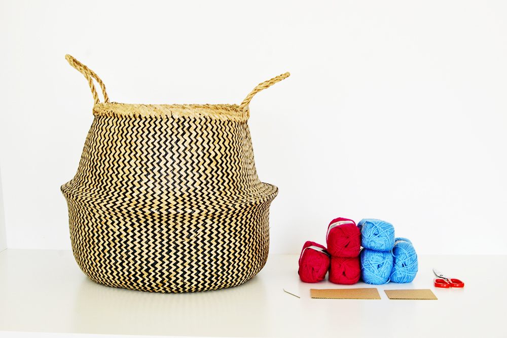 Diy tasseled sea grass basket materials