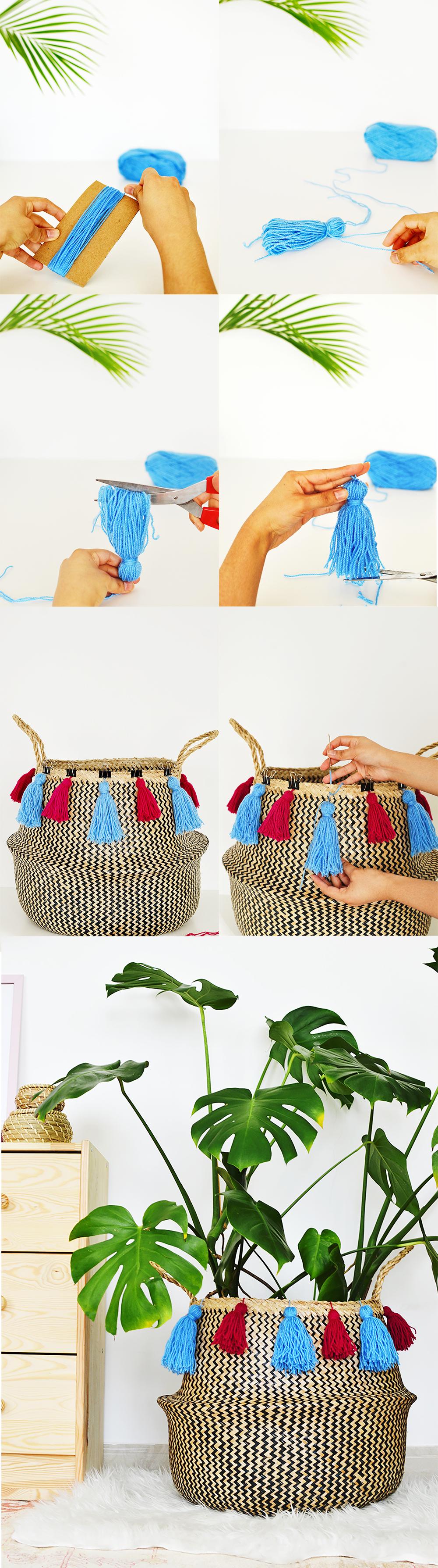 Diy tasseled sea grass basket cl 1