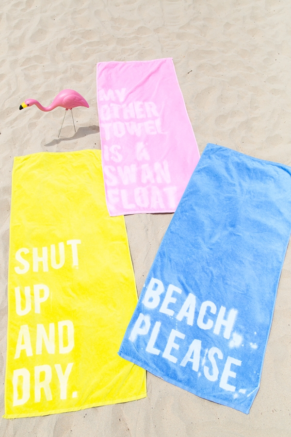 Diy graphic beach towel
