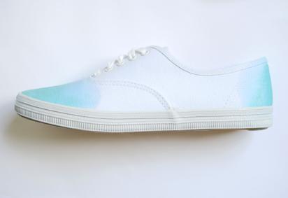 Dip dye shoes diy