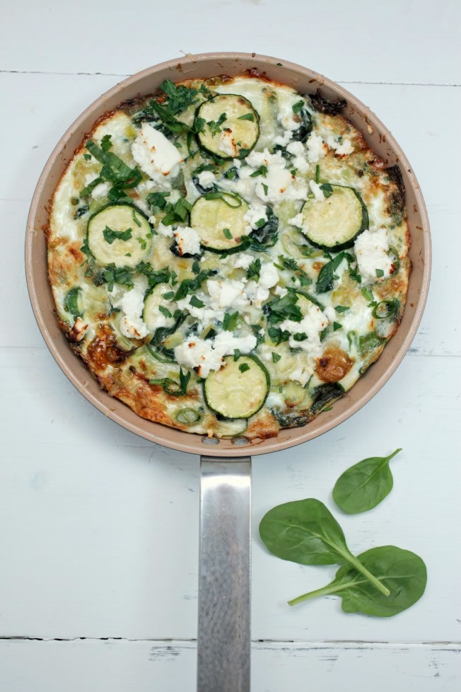 Egg white and greens fritata