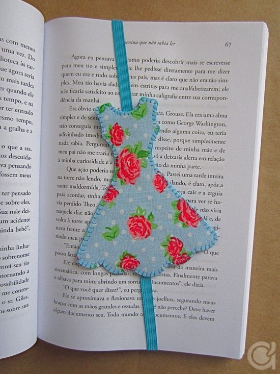 Fabric dress elastic page markers