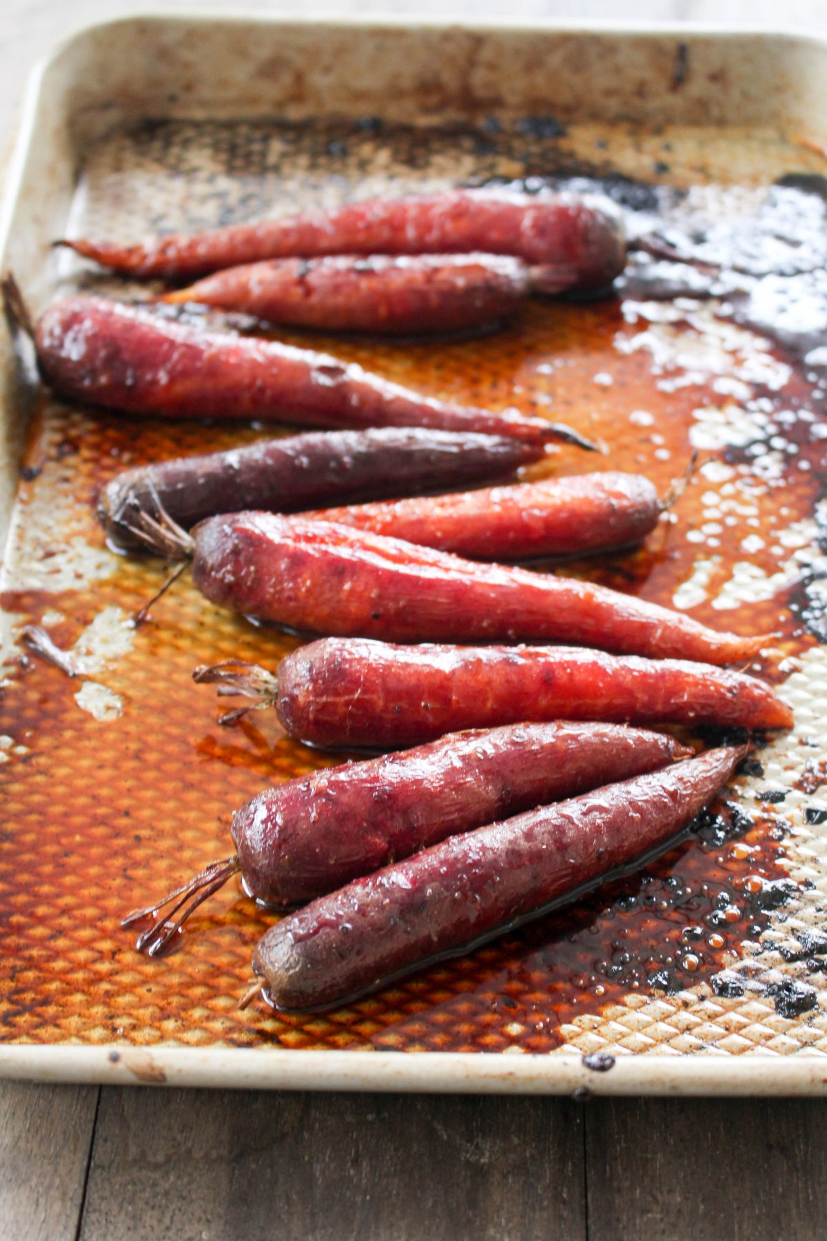 Farmers market carrots bake 3 minutes