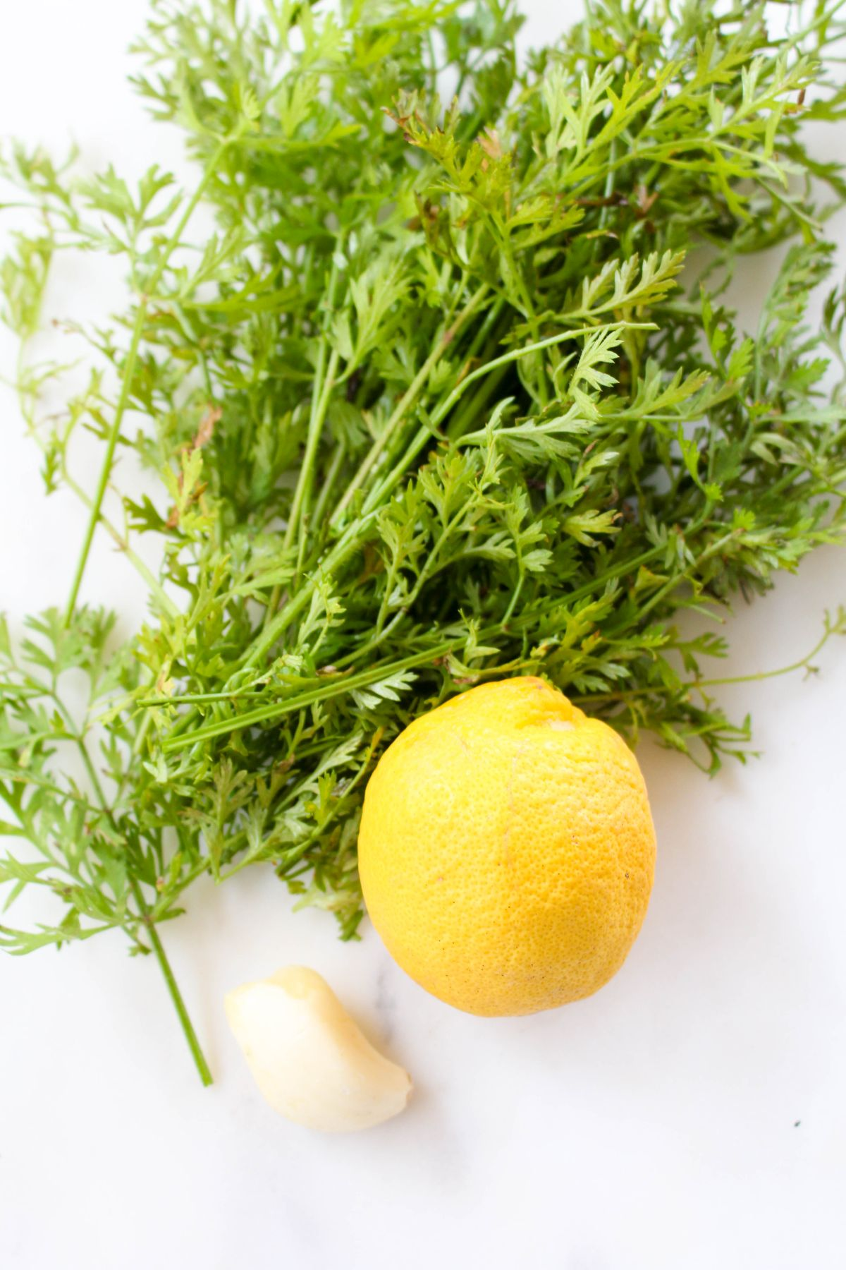 Farmers market carrots lemon