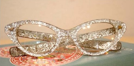 Glittered glasses