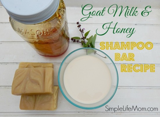 Goat milk and honey shampoo bar soap recipe2 550x402