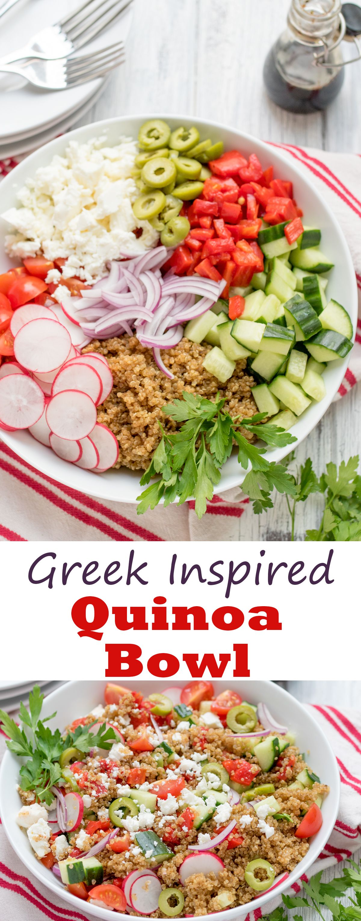 Greek quinoa bowl fresh recipe