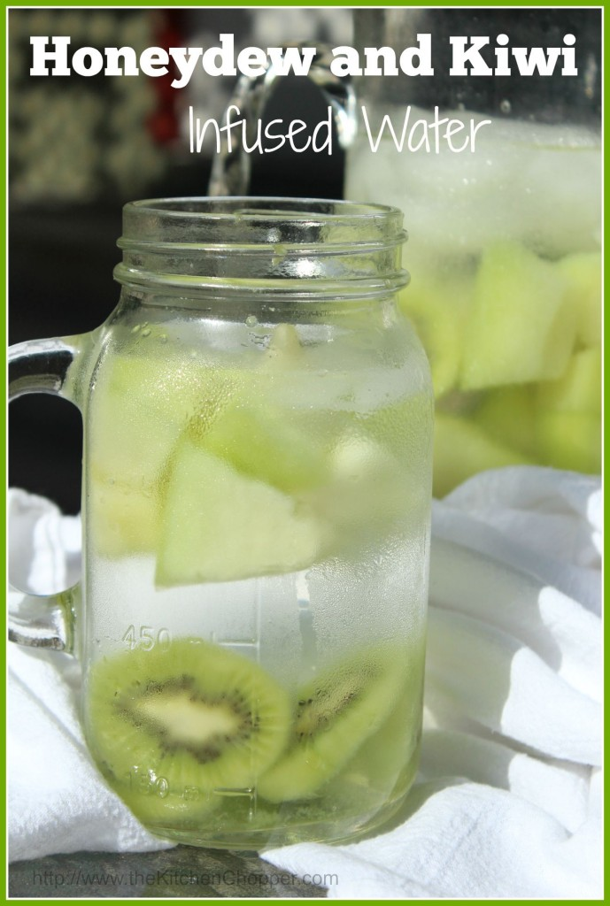 Honeydew and kiwi infused water the kitchen chopper 689x1024