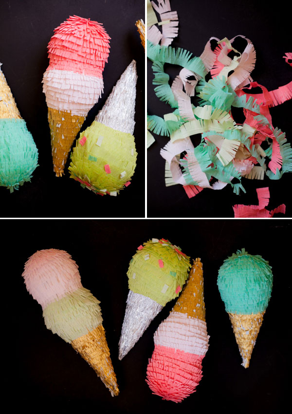 Ice cream pinata diy