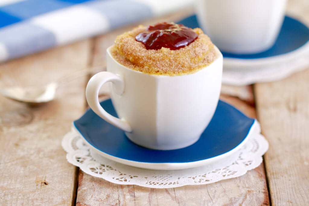Jelly donut in a mug recipe