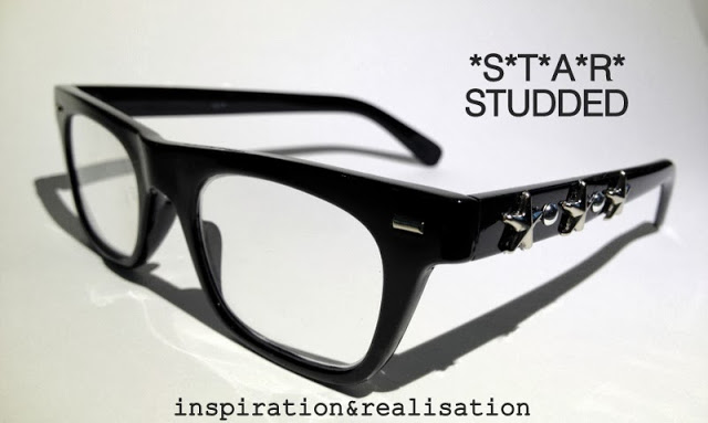 Jimmy choo inspired star studded glasses