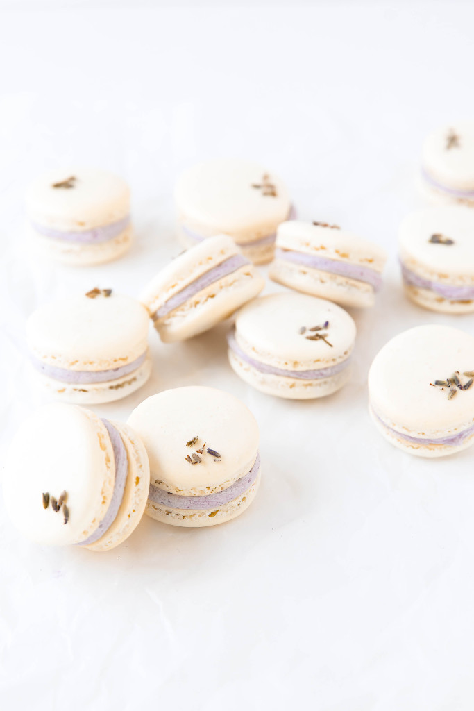 Lavender coconut macarons